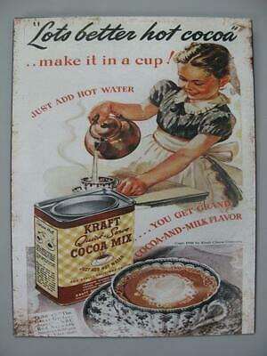 Metal Sign,Advertisement Sign Lots Better Hot Cocoa,Retro Kitchen Shield 13x9