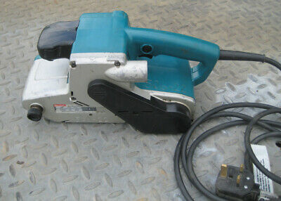 Makita 9404 Heavy Duty Belt Sander + Dust Bag  240 volts - GWO with New Pads