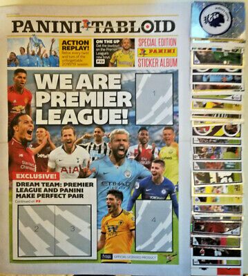 Panini Tabloid 2019 Premier - Complete Set Of Loose Stickers + Empty Album.