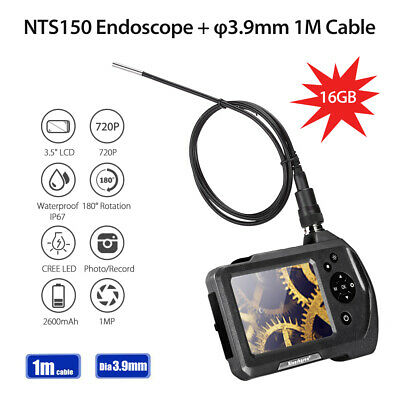 NTS150 1M Cable φ3.9mm 3.5Inch 2x Zoom 180°Rotation 6LEDs Industrial Endoscope