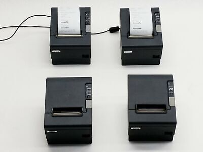 LOT OF 4 EPSON M129H TM-T88IV DIRECT THERMAL PoS POINT SALE RECEIPT PRINTER