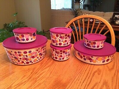 New TUPPERWARE Ilumina Party Poppin' Collection ~Sides Bowls, Snack & Salad Sets