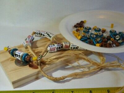 """MODS CONNECT BUILDERS: """"Ghana Art"""". Create 5 Necklace sections, earrings"""