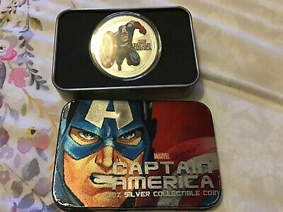 MARVEL Captain America 1oz Silver Plated Coin