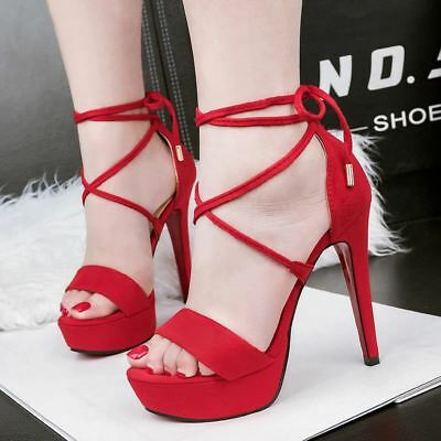606ecb349f2d3 SUPER CUTE SEXY Strappy High Heel Summer Shoes