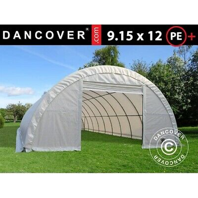 Arched storage tent 9.15x12x4.5m, PE, White