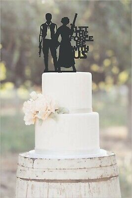 Handmade Star Wars Wedding Cake Topper Hans Solo Princess