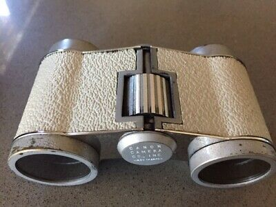 Vintage Canon 3x OPERA GLASSES  WITH LEATHER CASE & ORIGINAL BOX MADE IN JAPAN