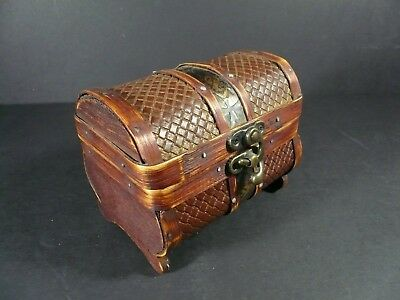 Treasure Chest Style Wood Trinket Box