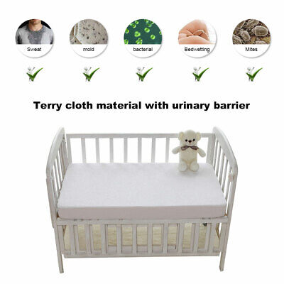 Baby Waterproof Cot Bed Mattress Protector Cover Towel Fitted Sheet Cover Foam