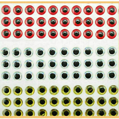 100PCS 3D Fish Eyes Holographic Lure Eyes for FlyTying Jigs Crafts Dolls 8m O7O6