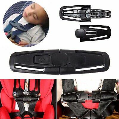 UK Car Safety Seat Strap Belt Harness Chest Clip Safe Buckle for Kids Baby Black