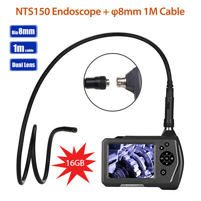 "Handheld NTS150 2 Lens 8mm 3.5"" Monitor 1MP Industrial Endoscope 16GB +1M Cable"