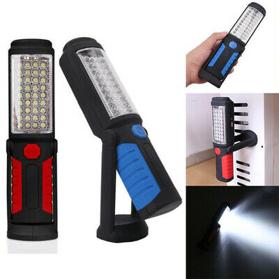 LED COB Hand Torch Inspection Lamp Magnetic Work Light Up Flexible &Rechargeable