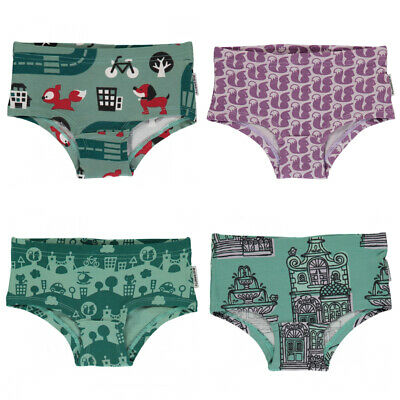 Maxomorra organic cotton knickers squirrel dogs houses 18 24 2 3 4 5 6 7 8 9 10