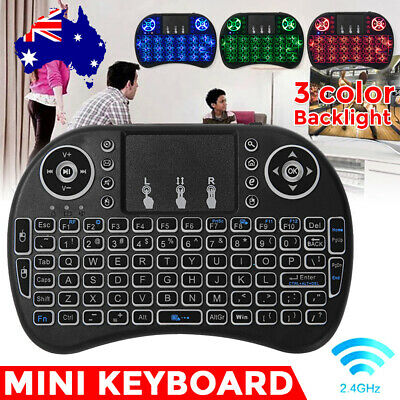 Mini Wireless Remote Keyboard for Smart TV Android Box i8 2.4GHz with Touchpad