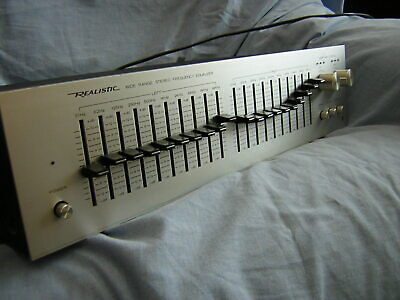 Realistic 31-2001 stereo frequency equaliser  2x 10 band Graphic equalizer