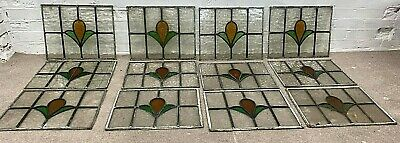 Victorian British Stained Glass Windows Architectural Salvage Set Of 12