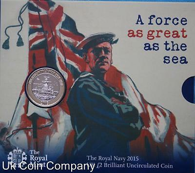2015 Uk Royal Navy Brilliant Uncirculated Royal Mint £2 Coin Pack