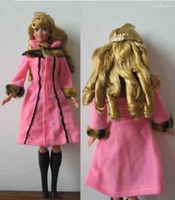 BEST GIFT-Popular Barbie Doll sized Casual Cloth/Acessory-1 Coat+1 pair of Boots