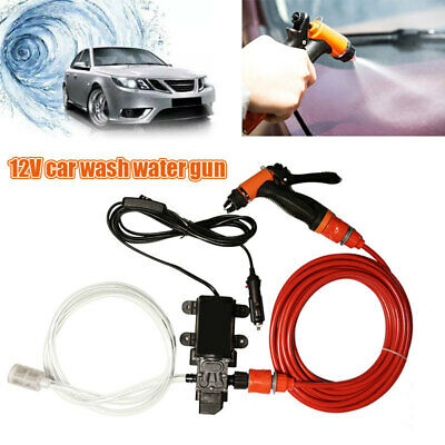 D0BB Washing Machine Portable Car Washer Pump 130PSI DC 12V Nozzle
