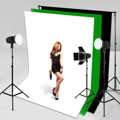 5x10Ft Photography Studio Non-woven Photo Stand Background Screen Backdrop Kit
