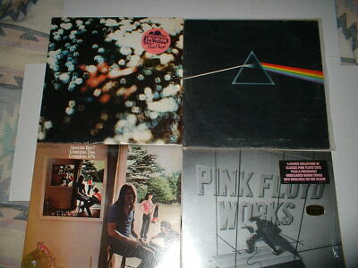 4-Pink Floyd lps-Dark Side of the Moon--w/posters-WORKS-Obscurred-UMMAGUMMA-2x