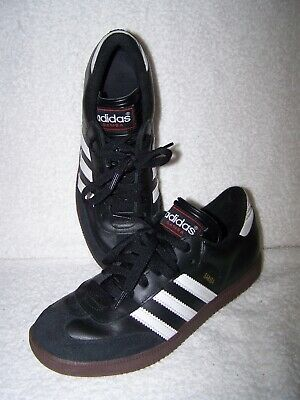 480d3cd8d Adidas Samba Classic Leather Indoor Soccer Shoes - Black/White/Gum- Size 5