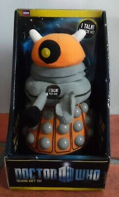 BBC Doctor Who Talking Dalek soft toy orange batteries included
