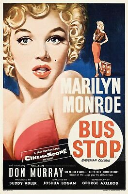 Marilyn Monroe Bus Stop Movie Stretched Canvas Wall Art Poster Print