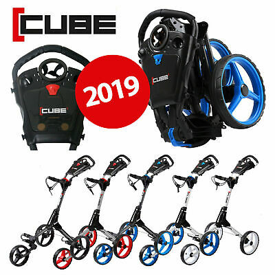 Cube Golf 3-Wheel Compact Push Cart/Trolley *ALL COLOURS* - NEW! 2019