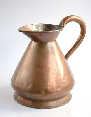 Antique Half Gallon Copper Measuring Jug 19th Century