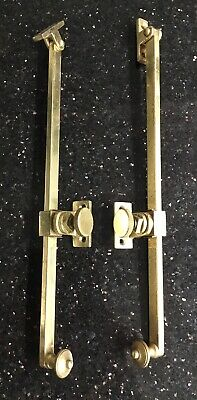 Old Vintage Antique Brass Fixed Opening Adjustable Casement Window Stay Arms