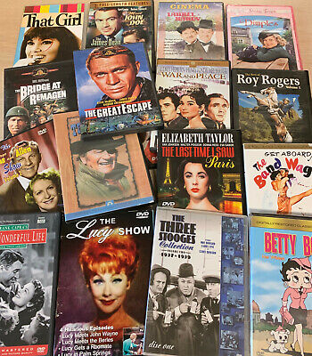 24 LOT DVD Classic Vintage Movies Oldies TV Shows Assorted Mix