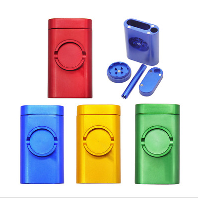 Multifunctional Metal Tobacco Herb Grinder +Storage Container + Hitter Pipe New