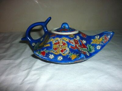 Petite théière CHINE CHINESE FAMILY ROSE DAOGUANG WU SHUANG Teapot porcelaine