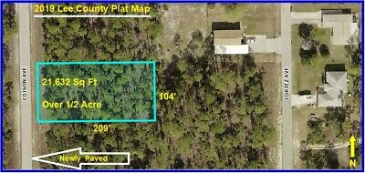 LARGE FLORIDA LOT 1/2 Acre Lehigh Acres Land Cape Coral Fort Myers Charlotte fl