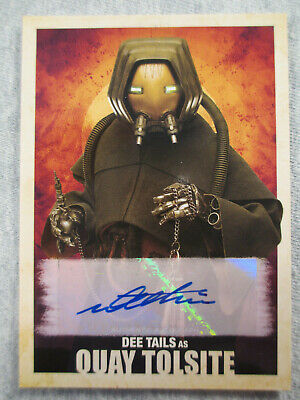 Dee Tails as Quay Tolsite  #A-DT - Topps Star Wars Solo Autograph