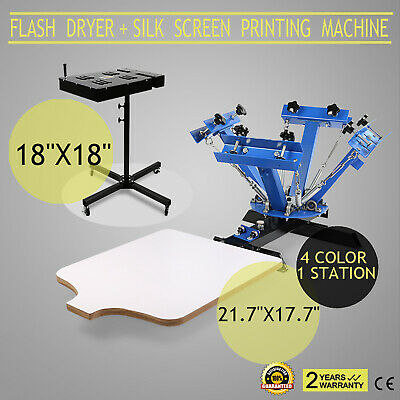 "18""X18"" Flash Dryer Silk Screen Printing Micrometric Adjustable Press EXCELLENT"