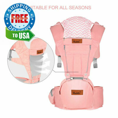 Bable Baby Carrier with Hip Seat, 6-in-1 Ergonomic for pink