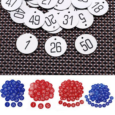 1-50/1-100 Laser Engraved Number Discs Table Tags Locker Pub Restaurant Club