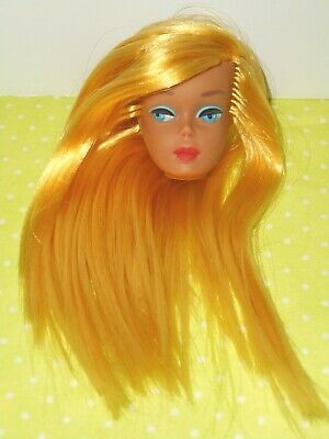 Vintage BARBIE * TLC COLOR MAGIC REROOTED BARBIE HEAD FOR DISPLAY