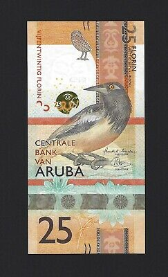 ARUBA 25 Florin 2019, Brand New Banknote, Completely new Design, Pack Fresh UNC