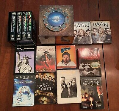 Large DVD BluRay TV Series Lot Collection Stargate Twilight Zone Game Thrones