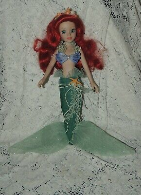 "Disney's Little Mermaid ""Ariel"" Porcelain Doll Brass Key -17"" Tall"