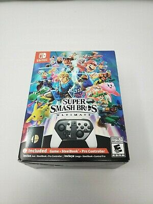 Nintendo Switch Super Smash Bros Ultimate Sealed With Pro Controller