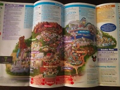 Disneyland California Adventure Tower of Terror Guide Park Map Mad T Party
