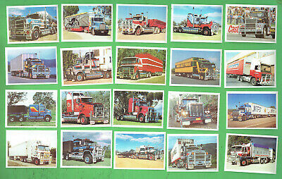#D221.  1988  Kings Of The Road Trucks  Sanitarium  Weetbix  Card Set (20)