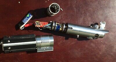 Starwars Luke Skywalker ESB Custom Lightsaber Graflex Crystal Chamber