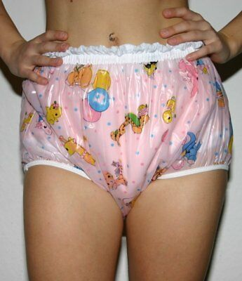 PVC Locking Diaper Rubber Trousers Adult Baby L